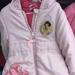 Disney Store Girls Princess Winter Coat